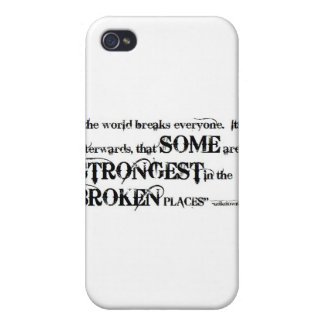 So Beautifully Broken Broken Places Quote iPhone 4/4S Cover