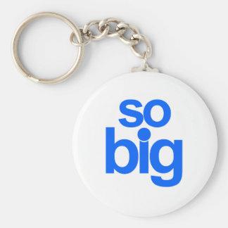 So Big - Blue Basic Round Button Keychain