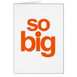 So Big - Orange Card
