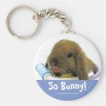 So Bunny! Keychain - Blue