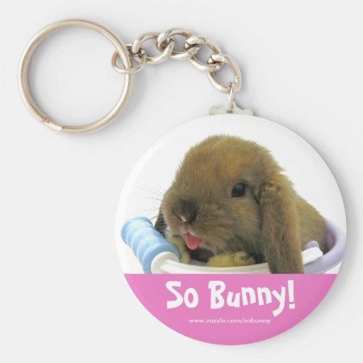 So Bunny! Keychain - Pink