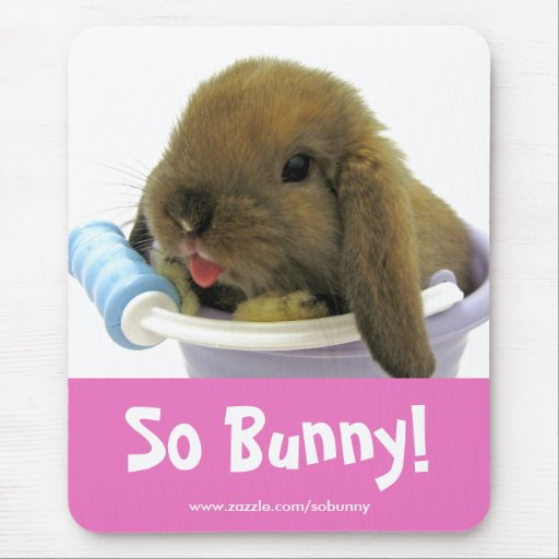 So Bunny! Mousepad- Pink