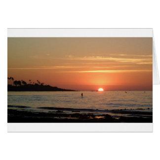 So Cal Sunset Greeting Card