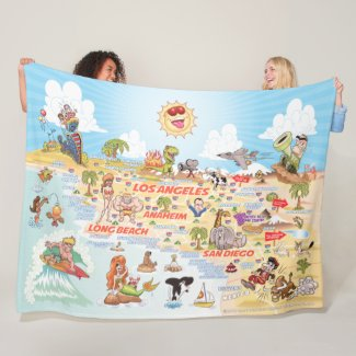 So California Cities & Beaches Fleece Blanket
