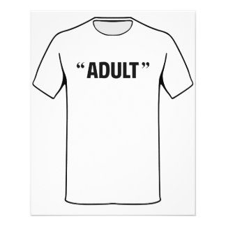 """So Called Adult Quotation Marks 4.5"""" X 5.6"""" Flyer"""