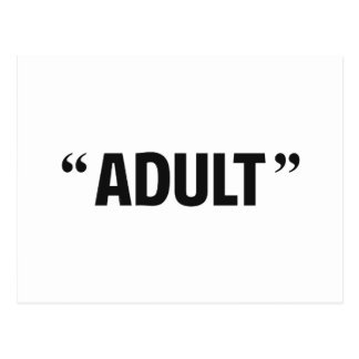 So Called Adult Quotation Marks Postcard