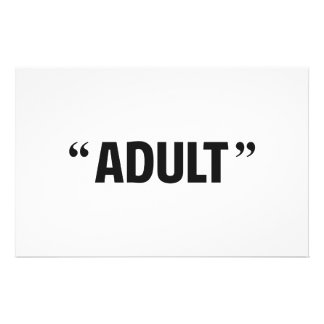 So Called Adult Quotation Marks Personalized Stationery