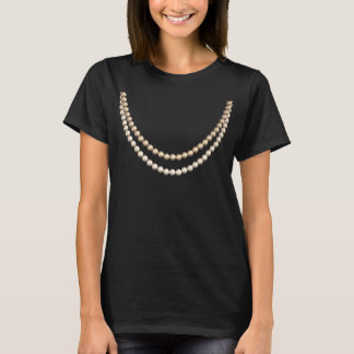 So Chic in Pearls: Fun Fake Necklace Design T-Shirt
