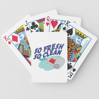 So Clean Bicycle Playing Cards