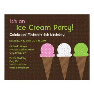 So Cool Ice Cream Party Invitation - 4.25 x 5.5
