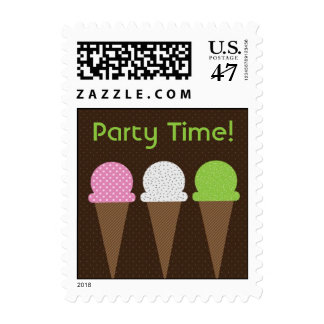 So Cool Ice Cream Party Postage Stamp
