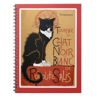 So Cool Le Chat Noir et Blanc Spiral Notebook