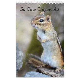 So Cute Chipmunks 2017 Calendar