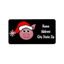 "*SO CUTE CHRISTMAS PIGGY "" with *SNOW FONT* LABEL"