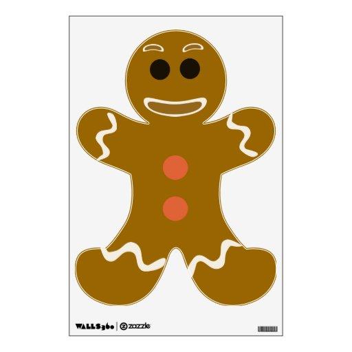 So Cute Gingerbread Man Room Graphic