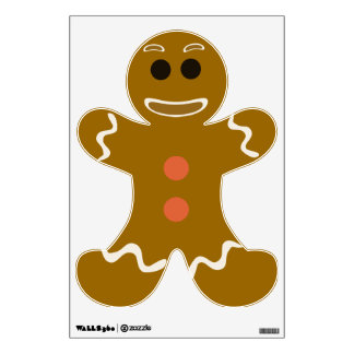 So Cute Gingerbread Man Wall Sticker