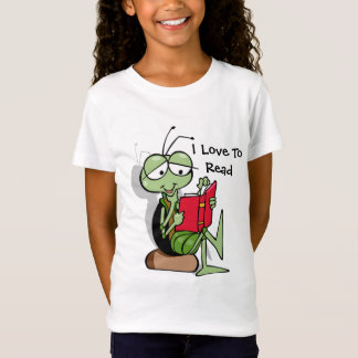 So Cute I Love To Read  T-shirt for girls