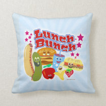 So Cute Lunch Bunch Throw Pillow