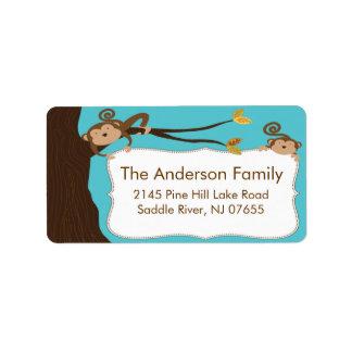 So Cute Monkey Frame Address Label