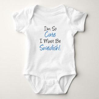 So Cute Must Be Swedish Baby Bodysuit