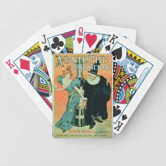 'So Drink, You'll See Later', poster advertising ' Bicycle Playing Cards