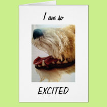 """SO EXCITED-YOU ARE 21/NOW WE CAN """"PARTY"""" CARD"""