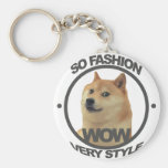 So Fashion, So Doge Basic Round Button Keychain