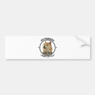 So Fashion, So Doge Bumper Sticker