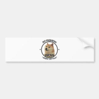 So Fashion, So Doge Car Bumper Sticker