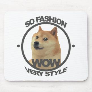 So Fashion, So Doge Mouse Pad