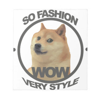 So Fashion, So Doge Notepad