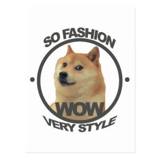 So Fashion, So Doge Postcard