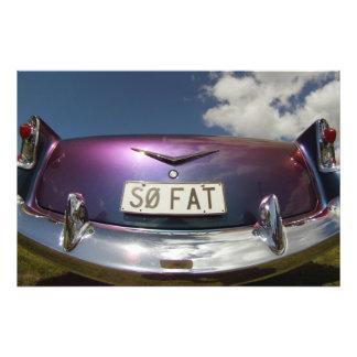 SO FAT - Classic Cars Beach Hop Photo Print