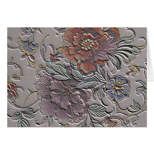 So floral stationery note card