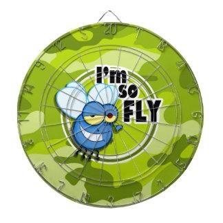 So Fly!  bright green camo, camouflage Dartboard