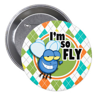 So Fly!  Colorful Argyle Pattern Pin