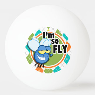 So Fly!  Colorful Argyle Pattern Ping-Pong Ball