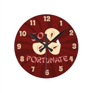 So Fortunate Round Wallclock