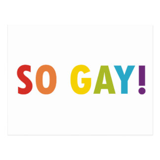 So Gay! Post Card