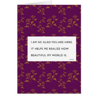 So Glad You're Here Rilke Valentine Greeting Card