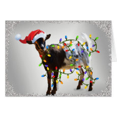SO Good Christmas Goat Card