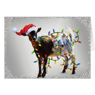 SO Good Christmas Goat Card