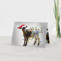 SO Good Christmas Goat Holiday Card