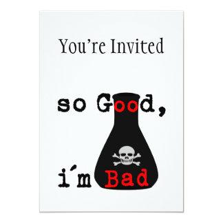 So Good I'm Bad 5x7 Paper Invitation Card