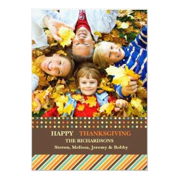 Halloween Themed So Grateful - Thanksgiving Photo Card