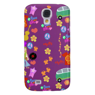 So Groovy 60's Purple Pattern Galaxy S4 Cover