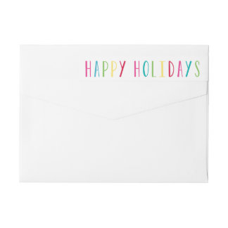 So Happy | Holiday Return Address Labels
