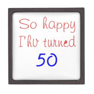 So Happy I've Turned 50 Premium Jewelry Box