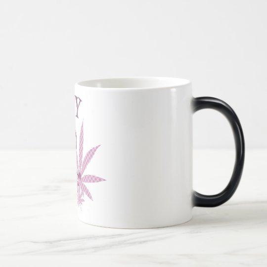 So Happy Retro Guy W/ Pot Leaves & Pipe Pink Magic Mug