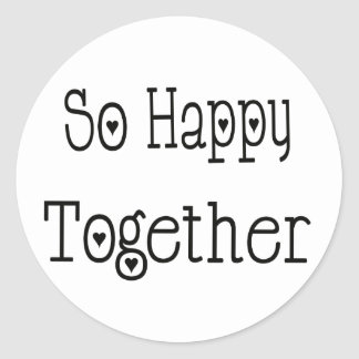 So Happy Together Love Black Wedding Sticker